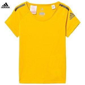 adidas Performance Unisex Tops Yellow Yellow Training Cool Tee