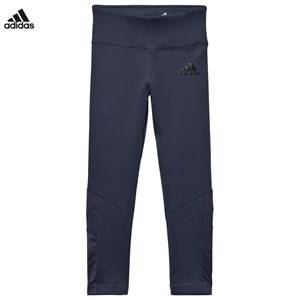adidas Performance Girls Bottoms Blue Grey Training Leggings