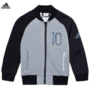 adidas Performance Boys Coats and jackets Grey Grey Messi Zip Sweater Jacket