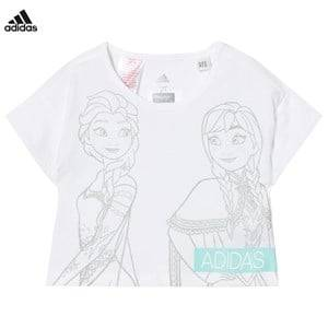 adidas Performance Girls Tops White Disney Frozen Tee