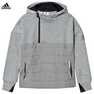 adidas Performance Boys Jumpers and knitwear Grey Messi Zip Hoodie Grey