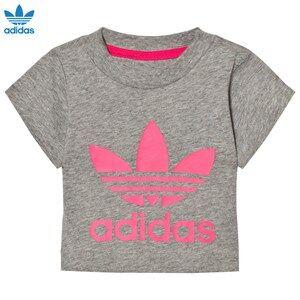 adidas Originals Unisex Tops Grey Grey Infants Logo Tee