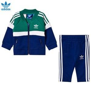 adidas Originals Boys Clothing sets Green Infant Tracksuit Green/Blue