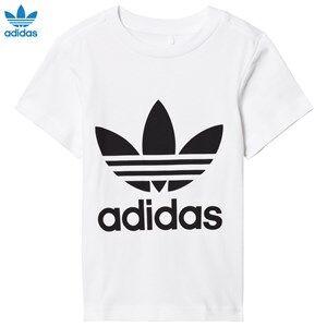 adidas Originals Girls Tops White White Logo Tee