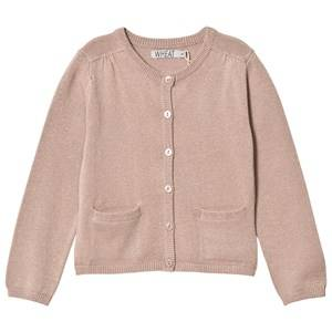 Image of Wheat Girls Jumpers and knitwear Brown Ibi Knit Cardigan Fawn