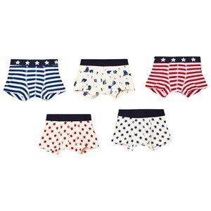 Petit Bateau Boys Underwear White 5-Pack Boxers