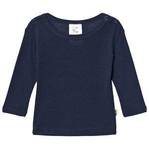 Celavi Unisex Underwear Navy Wool Sweater Navy