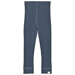 Celavi Unisex Underwear Navy Wool Leggings Bering Sea