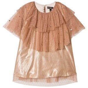 Velveteen Girls Dresses Pink Peach Glitter Tulle Caitlin Dress