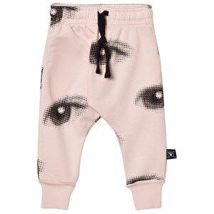 NUNUNU Unisex Bottoms Pink Eye Baggy Pants Powder Pink
