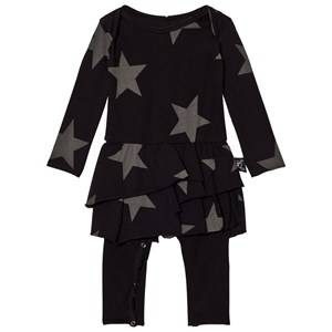 NUNUNU Girls Dresses Black Star Onesie Skirt Black