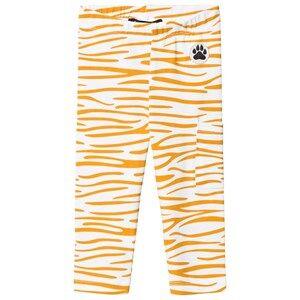 Little LuWi Unisex Commission Bottoms White Leggings Yellow Tiger Print