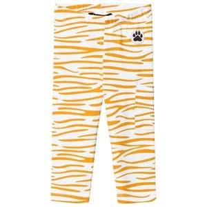 Little LuWi Unisex Commission Bottoms White Leggings Yellow Tiger Print