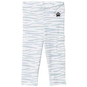 Little LuWi Unisex Commission Bottoms White Leggings Blue Tiger Print