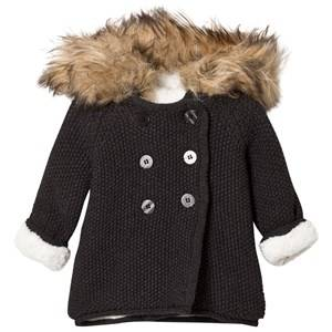 The Little Tailor Boys Coats and jackets Grey Dark Grey Plush Lined Pixie Faux Fur Trim