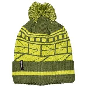 Patagonia Unisex Headwear Green K´s Powder Town Beanie Geo Lines Glades Green