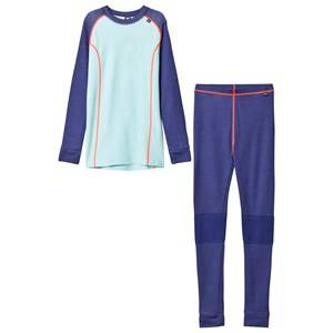 Helly Hansen Girls Baselayers Purple HH® Lifa Merino Junior Baselayer Set Purple
