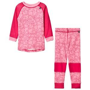 Helly Hansen Girls Baselayers Pink HH® Lifa Merino Kids Baselayer Set Bright Rose