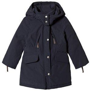 Ver de Terre Girls Coats and jackets Navy Eskimo Down Coat Navy