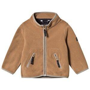 Ver de Terre Unisex Fleeces Brown Double Face Fleece Jacket Hazelnut/Navy