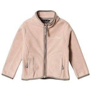 Ver de Terre Girls Fleeces Pink Double face Fleece Jacket Mahogany Rose/Mocca