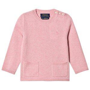 Ralph Lauren Girls Tops Pink Wool Pocket Sweater Pink