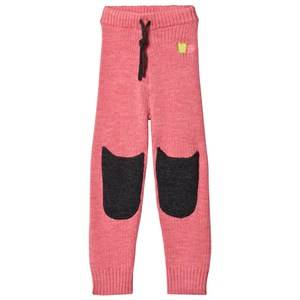 Kattnakken Girls Bottoms Pink Wool Pants Pink