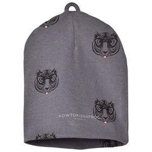 Kiss How To Kiss A Frog Unisex Headwear Grey Hat Allover Tiger Dark Grey