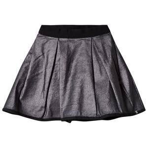 IKKS Girls Skirts Silver Silver Metallic Skirt Reversible into Black Satin