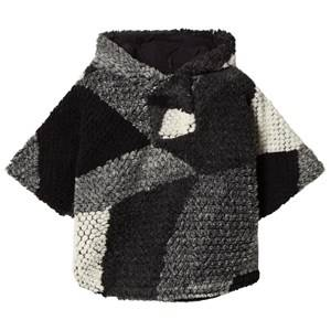 IKKS Girls Jumpers and knitwear Grey Grey Knit Hooded Poncho