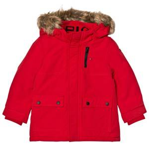 Tommy Hilfiger Boys Coats and jackets Red Red Faux Fur Lined Hood Parka Jacket