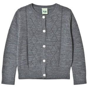 FUB Unisex Jumpers and knitwear Grey Pointelle Cardigan Grey