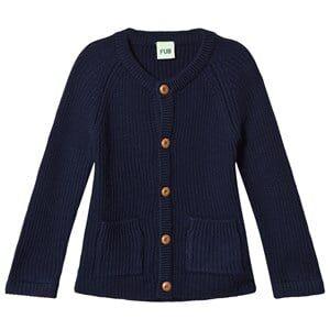 FUB Unisex Coats and jackets Blue Knit Jacket Navy