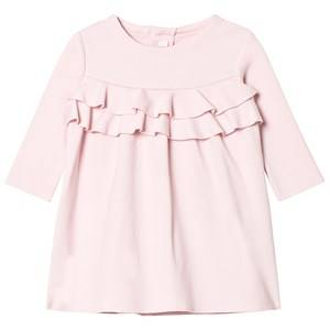 Image of Il Gufo Girls Dresses Pink Pink Milano Frill Front Dress