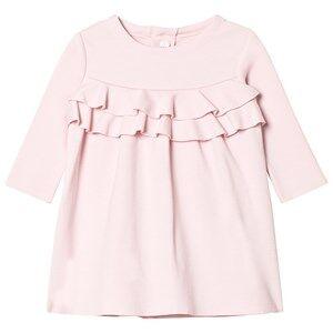 Il Gufo Girls Dresses Pink Pink Milano Frill Front Dress