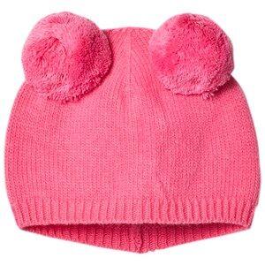 Il Gufo Girls Headwear Pink Pink Double Pom Pom Beanie
