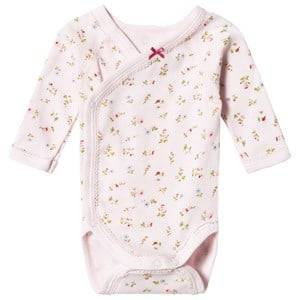 Image of Petit Bateau Girls All in ones Pink Floral Baby Body Pink