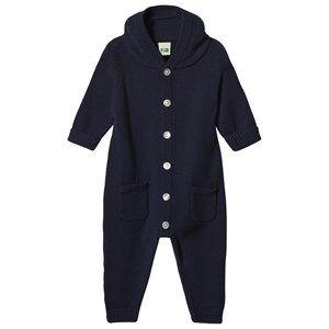 FUB Unisex All in ones Blue Knit Onesie Navy