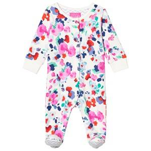 Image of Tom Joule Girls All in ones Cream Cream Floral Jersey Footed One-Piece