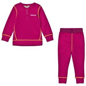 Didriksons Girls Baselayers Purple Moarri Kid´s Set Lilac Stripes