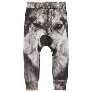 Popupshop Unisex Bottoms Grey Wolf Baggy Leggings