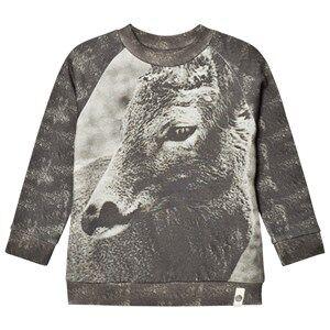 Popupshop Unisex Jumpers and knitwear Grey Basic Sweat Reindeer