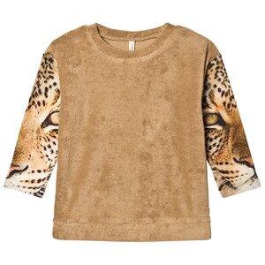 Popupshop Unisex Jumpers and knitwear Beige Los Feliz Blouse Cardboard Terry/Leopard