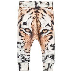 Popupshop Unisex Bottoms Beige Tiger Baggy Leggings