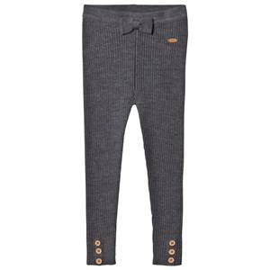 Hust&Claire; Girls Bottoms Grey Ribbed Leggings Anthracite