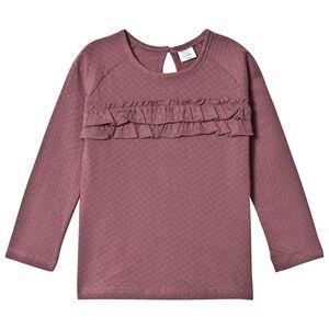 Hust&Claire; Girls Tops Purple Frill T-Shirt Plum