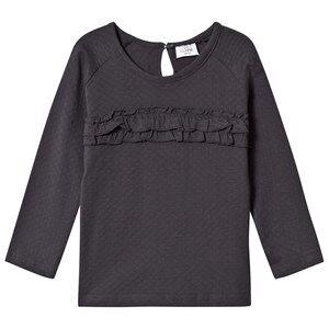 Hust&Claire; Girls Tops Grey Frill T-Shirt Dark Grey