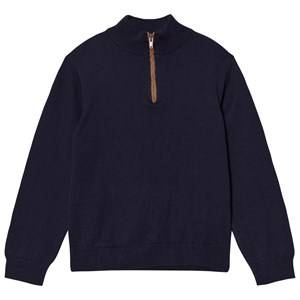 Cyrillus Boys Jumpers and knitwear Blue Navy Half Zip Jumper