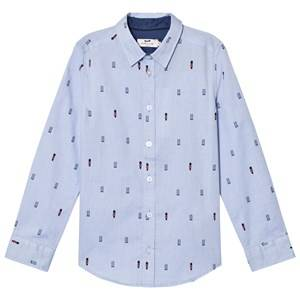 Cyrillus Boys Tops Blue Pale Blue Long Sleeve Shirt