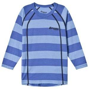 Bergans Unisex Jumpers and knitwear Blue Fjellrapp Striped Shirt Skyblue